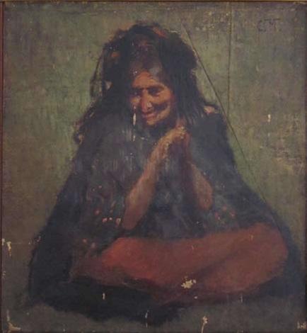 orientale assise by konstantin egorovich makovsky