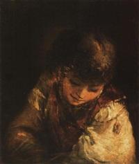 fiú mellképe (az ifjú dávid) - boy portrait by aert de gelder