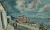 a terrace by the sea by herbert fiedler