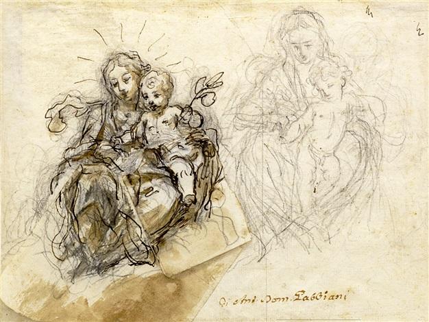 estudio de madonna by anton domenico gabbiani