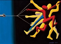 rage against the machine by mark kostabi