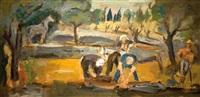 working in the garden by leo kahn