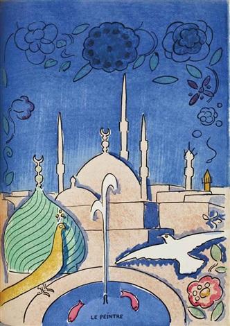 hassan badreddine, conte des 1001 nuits (8 works) by kees van dongen