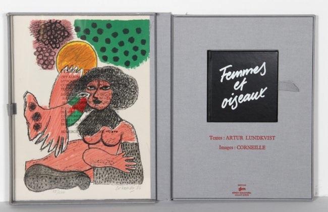 femmes et oiseux (portfolio of 4) by corneille