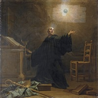 the ecstasy of saint benedict by jean restout the younger