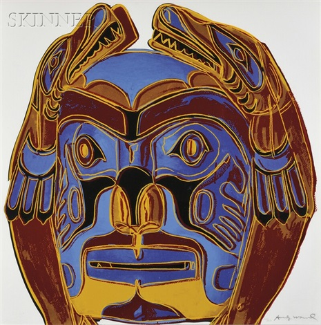 northwest coast mask from cowboys and indians by andy warhol