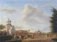 the witte vrouwenpoort, utrecht by jan ten compe