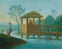 chinoiseries, trois enfants jouant avec des clochettes (+ petit pêcheur; pair) by antoine renou