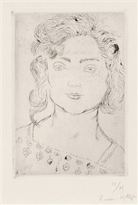 fillette, blouse fleurie by henri matisse