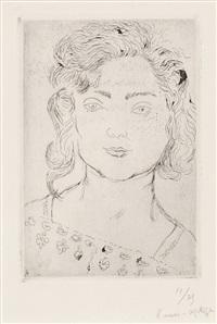 fillette, blouse fleurie by henri matisse