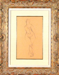 standing female nude by stanton macdonald-wright