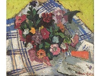 still life with flowers by freida lock