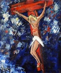le christ en croix by henri d' anty