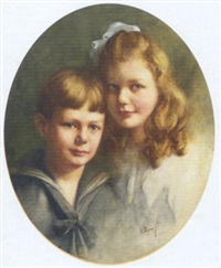 sweet siblings: double portrait of a boy and a girl by willem matthijs maris