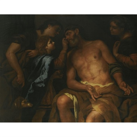 the curing of tobits blindness by johann karl loth