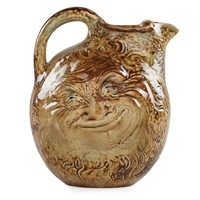 double-sided face jug by martin brothers