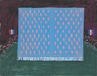 drop curtain for les mamelles (from les mamelles de tiresias) by david hockney