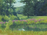 the meadow pond, summer by brett mcentaggart