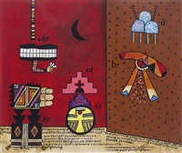 hopi studies no. 22 g. 2134 by alan davie