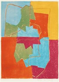 composition rouge, verte, bleue et jaune by serge poliakoff