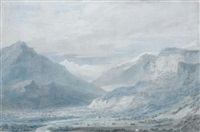 the lesser valley of ober-hasli, upper part from the north, switzerland by john robert cozens