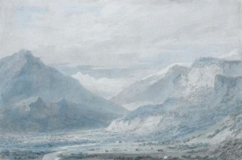 the lesser valley of ober hasli upper part from the north switzerland by john robert cozens