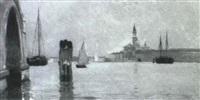 venice lagoon (san giorgio maggiore) by theodore wendel