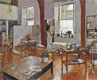 dora at st. clement's studio by ken howard
