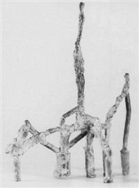 figuur op zeven-potige stellage by ad robert (ad arma) meerman