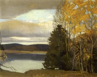 gatineau river in autumn by frank charles hennessey