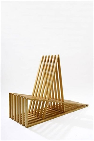 prototype slat chair by scott burton