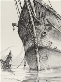 Fore-mast-head in the mud, the Mary Quimby