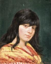 feketehajú lány by l. kern