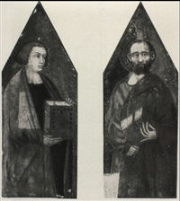 two saints holding books by pietro lorenzetti