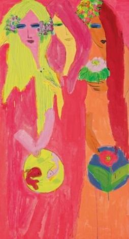 three ladies by walasse ting
