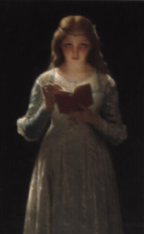 a young lady reading by pierre auguste cot