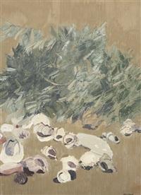 interno con ramo d'ulivo by giancarlo cazzaniga