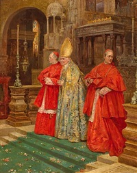 saying mass by umberto cacciarelli