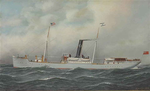 olympia steamship by antonio jacobsen
