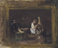 study for courtship by thomas eakins