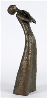 mädchen mit verschrenkten armen in bodenlangem kleid by meta (maria theresia) mettig von ellenberger