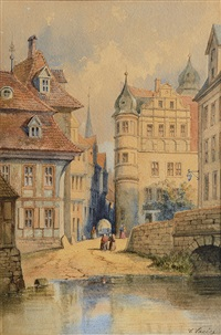view on strasbourg by carl martin laeisz