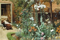 in the garden by frederick hamilton jackson