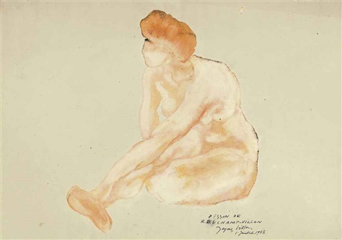 nu assis by raymond duchamp villon
