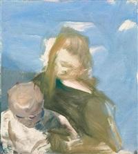 madonna mit kind nach vorne by siegfried anzinger