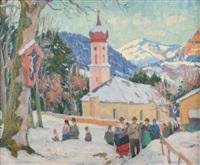 village sous la neige by otto weil