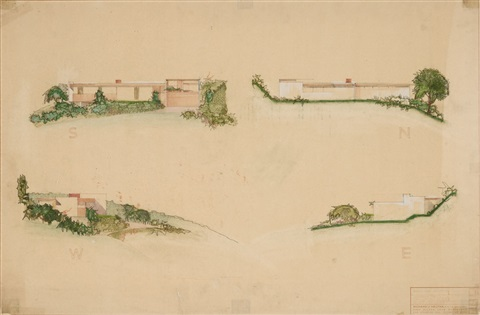 untitled (preliminary elevation) by richard neutra