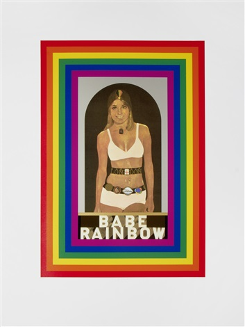 r is for rainbow from the alphabet series by peter blake
