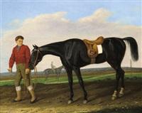 reiter mit pferd by carl adolf heinrich hess