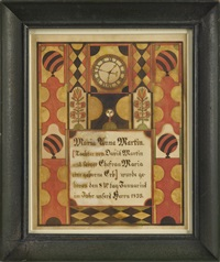 fraktur for maria anna martin by samuel bentz ('mount pleasant artist')